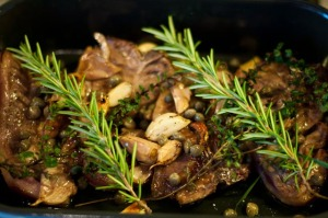 Lamb Chops with Capers and Garlic